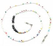 C-A22.2 GL687 Sunglass Chain Beads LOVE Multi