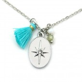 F-F19.1 N532-002S Necklace Northern Star and Tassel Silver