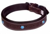 G-E3.1 MTDC-004 Leather Dog Collar Brown XXS 39x2cm