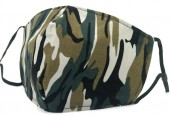 B-D23.2 SKA505 Cotton Fashion Mask with Room for Filter Washable - Army