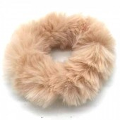 S-D7.3 H414-002 Scrunchie Fluffy Brown