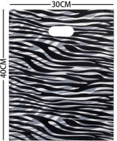 X-C4.1 Plastic Bags Zebra Print 30x40cm 100pcs