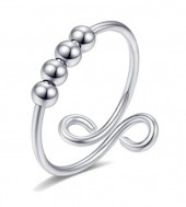 D-A17.3 R007-001S S. Steel Ring Balls Adjustable Silver