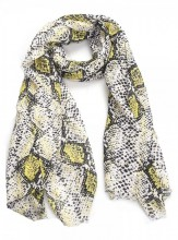 X-L10.1 S314-004 Scarf with Snake print 180x90cm Yellow