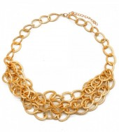 C-C18.3 N002-004 Metal Chain Necklace Gold