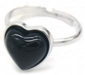 E-E20.4 R1934-009 Adjustable Ring Black Onyx Silver