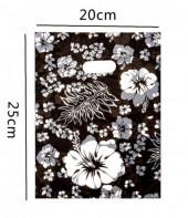A-G7.2 Plastic Bags Flower  Print 20x25cm 100pcs
