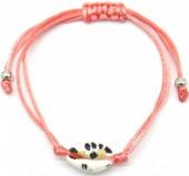 D-C18.5 B2001-057C Bracelet with Leopard Shell Pink