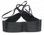 S-A3.3 BELT001-001A PU Waist Belt Black