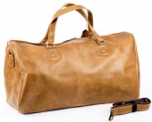 R-A6.1 BAG-921XL Luxury Leather Travel-Sport Bag 60x32x20cm Light Brown XL