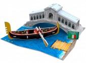 D-F12.1 W3115H 3D Puzzle Rialto Bridge Italy - 29pcs