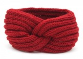 R-B2.2  H401-001K Knitted Headband Red