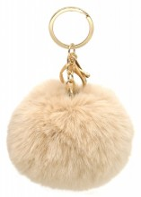 S-C5.1 KY414-004C Bag-Keychain Fluffy 9cm Brown