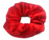 S-D5.2 H305-009A9 Velvet Scrunchie Red