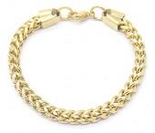 A-E22.3 B2063-016G S. Steel Bracelet Round Chain 0.6x19.5cm Gold