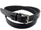 C-A12.1 22171 Leather Belt Black 2.5x85cm