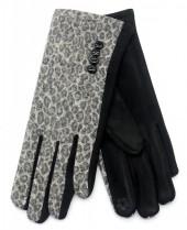 R-L6.1 GLOVE403-080C Gloves Animal Print Grey