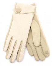 R-J8.2  GLOVE403-097C Gloves with Button Beige