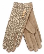 R-J2.1 GLOVE403-080B Gloves Animal Print Brown
