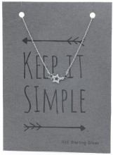 N103-050 925 Sterling Silver Necklace Stars