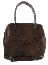 S-A8.2 BAG-943 Luxury Leather Bag Snake 35x27x13cm Brown