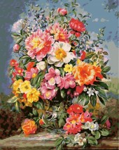 Y-A1.2 MS7459 Paint By Number Set Flowers 50x40cm