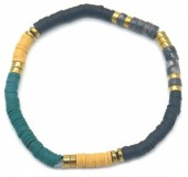 E-D5.2 B1941-001B Surf Bracelet with Semi Precious Stones Blue-Yellow-Black
