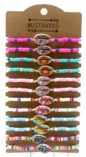X-B2.2 B2135-006 Bracelet Set with Shell - 12pcs