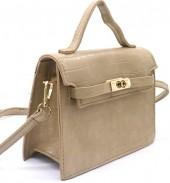 Y-A6.4 BAG006-007C PU Bag Croco 19.5x15x8cm Khaki