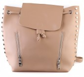 Y-F4.1 BAG120-002 Trendy Backpack with Studs Brown 40x33cm