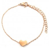 B-E17.2 B410-004 Stainless Steel Bracelet Heart Love 10mm Rose Gold