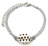 E-E4.1 B2121-010S S. Steel Bracelet Shell Dots Silver