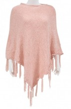 Y-E5.4 SCARF008-004D Scarf with Fringes Pink