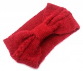 S-H6.1 H401-024C Soft Knitted Headband Red