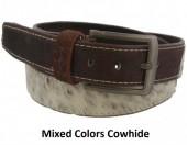 S-D7.1 Cowhide Leather Belt 4x100cm Adjustable 81-91cm Mixed Colors