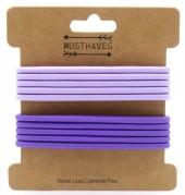 H-A2.2  H016-017F Elastics 10pcs Purple