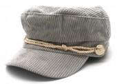 T-J2.2  HAT402-001 Sailor Cap Rib Fabric Grey