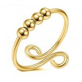 D-A4.1 R007-001G S. Steel Ring Balls Adjustable GoldD-A4.1 R007-001G S. Steel Ring Balls Adjustable Gold