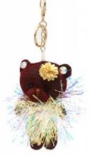 S-E2.3 KY2035-003E Keychain Glitter Bear 12cm Purple