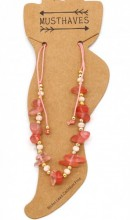 E-F7.2  ANK221-017 Anklet with Stones Pink
