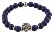 B-A21.3  S. Steel Bracelet with Semi Precious Stones Blue