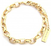 E-C5.2 B2019-016G Metal Chain Bracelet Gold