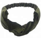 S-A6.3 H305-060A7 Velvet Headband Green