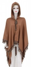 Z-C3.2 SCARF409-035 Exclusive Hooded XL Scarf Brown