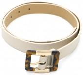 S-I5.2  BELT511-006C PU Belt with Animal Print Buckle White