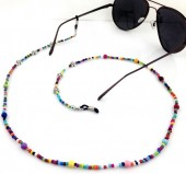 D-C5.5 GL013A Sunglass Chain Beads Pearls and Flowers Multi Color