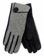 R-H7.2 GLOVE403-097A Gloves with Button Black