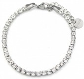 C-F3.2 B301-032S S. Steel Bracelet with Crystals Silver