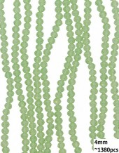 B-E20.3  Faceted Glass Beads 4mm About 1380pcs Transparant Green