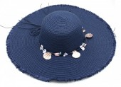 Q-O6.2 HAT315-001 Hat with Shells Blue